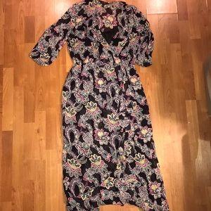 Banana republic size 12 faux wrap dress